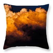Menacing Cloud Throw Pillow