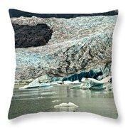 Mendenhall Glacier Alaska Throw Pillow