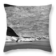 Mendenhall Glacier Bw Throw Pillow