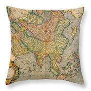 Mercators Map Of Asia Throw Pillow