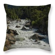 Merced River In Yosemite Throw Pillow