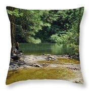 Merced River Yosemite National Park Throw Pillow
