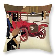 Mercedes Ad, C1914 Throw Pillow