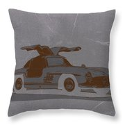 Mercedes Benz 300 Throw Pillow by Naxart Studio