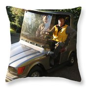 Mercedes Golf Cart Throw Pillow