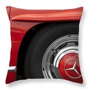 Mercedes Wheel Throw Pillow