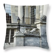 Merchant Exchange Philadelphia Throw Pillow