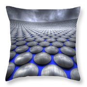 Mercury Drops Throw Pillow by Yhun Suarez