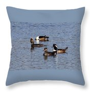 Mergansers After The Rain Throw Pillow
