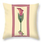 Merlot Calla Lily Banner Throw Pillow