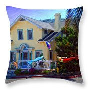 Mermaid House Throw Pillow
