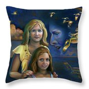 Mermalien Family Odyssey Throw Pillow