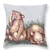 Merry Christmas And Goodnight Throw Pillow