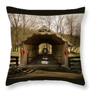 Merry Christmas From Tennessee Throw Pillow