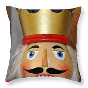 Merry Christmas Nutcracker Throw Pillow