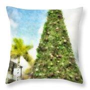 Merry Christmas Tree 2012 Throw Pillow
