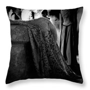 Merry Meet Black And White Throw Pillow by Jasna Buncic