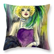 Merry Widow Throw Pillow