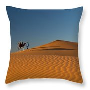 Merzouga, Morocco Throw Pillow