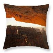 Mesa Arch First Light Throw Pillow