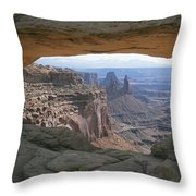 Mesa Arch In Utahs Canyonlands National Throw Pillow