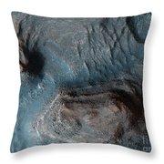 Mesas In The Nilosyrtis Mensae Region Throw Pillow
