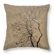 Message In The Sand Throw Pillow