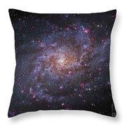 Messier 33, Spiral Galaxy In Triangulum Throw Pillow by Robert Gendler