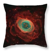 Messier 57, The Ring Nebula Throw Pillow