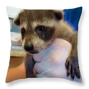 Messy Face Throw Pillow