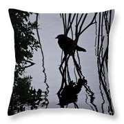 Messy Pond Reflection  Throw Pillow