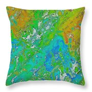 Messy Thick Paint Throw Pillow