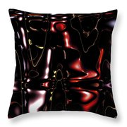 Metal Fractals 1 Throw Pillow