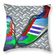 Metal Grate Sport Shoe Throw Pillow