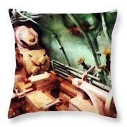 Metal Lathe In Submarine Throw Pillow
