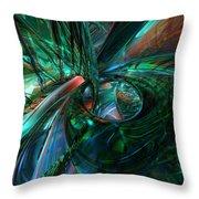 Metal N Shattered Glass Fx  Throw Pillow