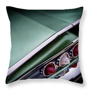 Metalic Green Impala Wing Vingage 1960 Throw Pillow