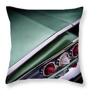 Metalic Green Impala Wing Vingage 1960 Throw Pillow by Douglas Pittman