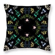Metallic Flourishes Warp Throw Pillow