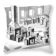 Metalworker, 18th Century Throw Pillow