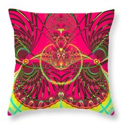 Metamorphosis  Emerging From The Cocoon Fractal 125 Throw Pillow