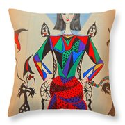 Metamorphosis Of Eleonore Throw Pillow