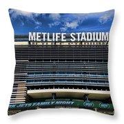 Metlife Stadium Throw Pillow