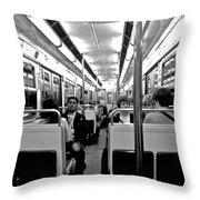 Metro Ride Throw Pillow