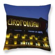 Metro Sign. Paris. France Throw Pillow