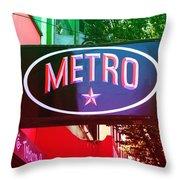 Metro Star Throw Pillow