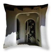 Mexican Door 14 Throw Pillow
