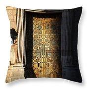 Mexican Door 21 Throw Pillow
