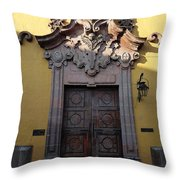 Mexican Door 28 Throw Pillow