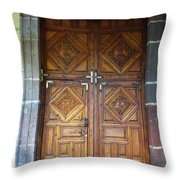 Mexican Door 29 Throw Pillow
